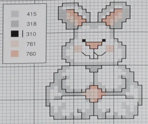 """Схемы для вышивания """"зайка, кролик"""" блог домохозЯйки."""