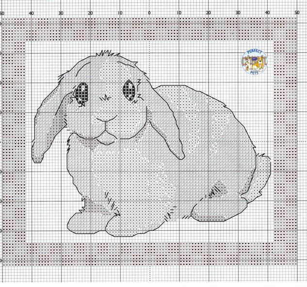 Вышивка зайцы кролики 21