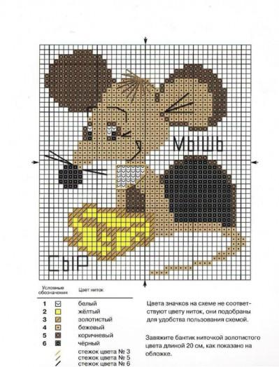 Вышивка для начинающих схемы животные 776