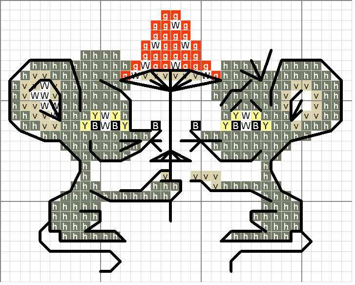 Вышивка крестом крыса схема 51