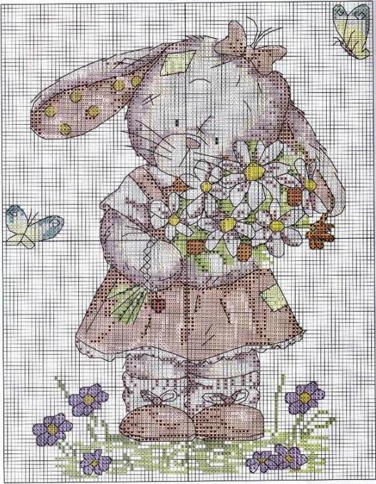 Схема кролик для вышивания
