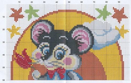 Вышивка крестом схемы вышивки подушка детские 440
