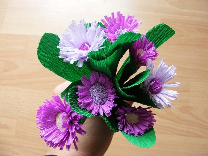 Своими руками поделки из гофрированной бумаги цветы
