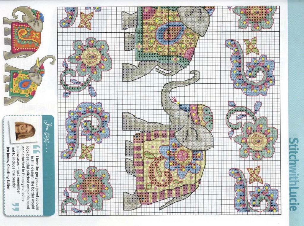 Схемы вышивок крестиком слоны