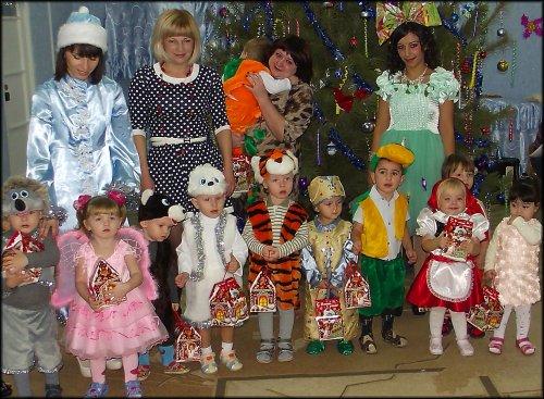 Детский костюм животного на новый год