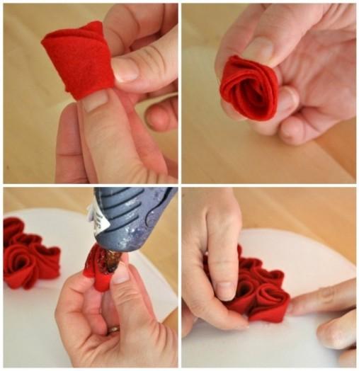 Маленькие розы своими руками 73