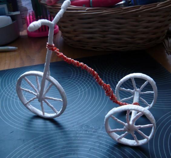 Велосипед из проволоки поделки