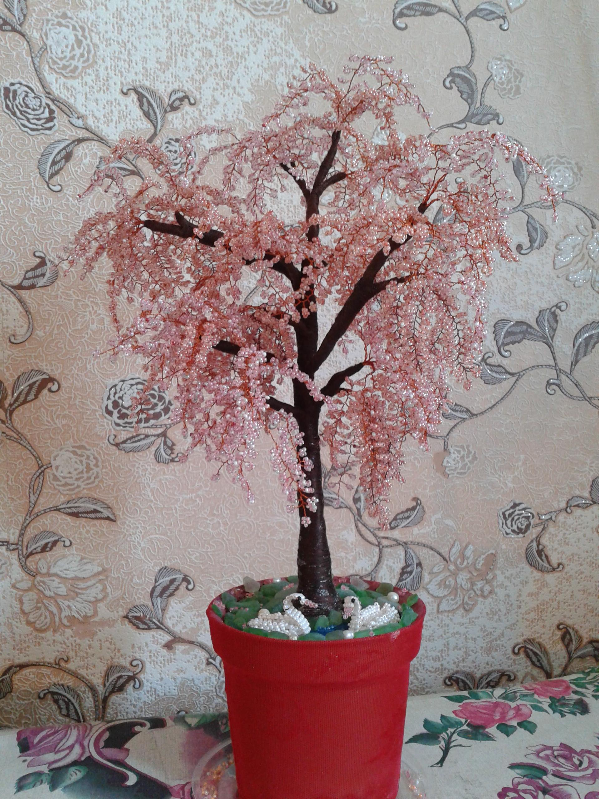 Дерево бонсай из бисера своими руками пошагово