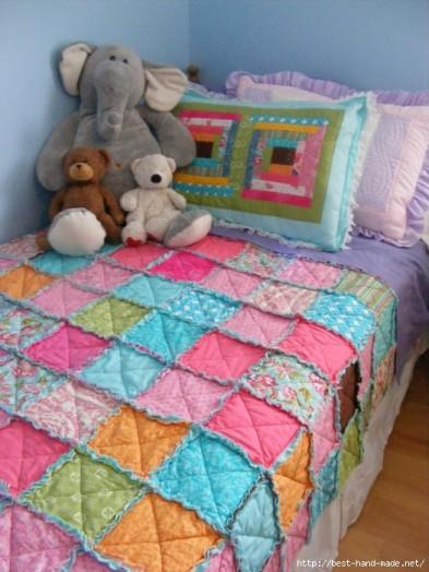 Одеяло из лоскутков детское с фотографиями
