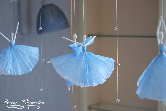 Балерины из бумаги своими руками фото