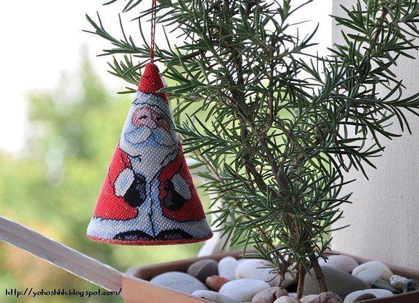 Дед Мороз. Схема вышивки 1