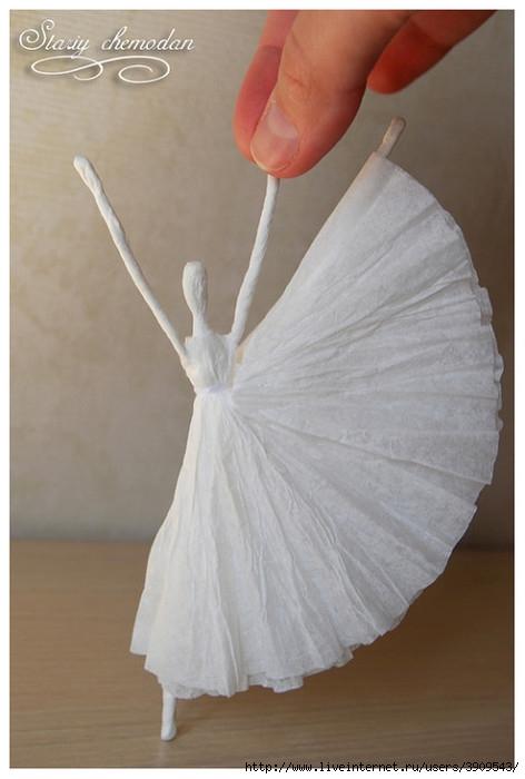 Балерины из бумаги своими руками схема
