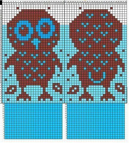 варежки совы спицами блог домохозяйки