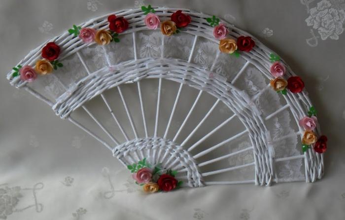 Веер иКоробка для цветов своими руками