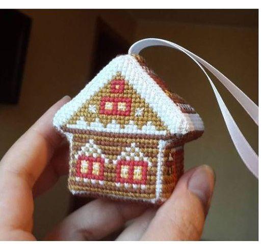 домик, схему вышивки