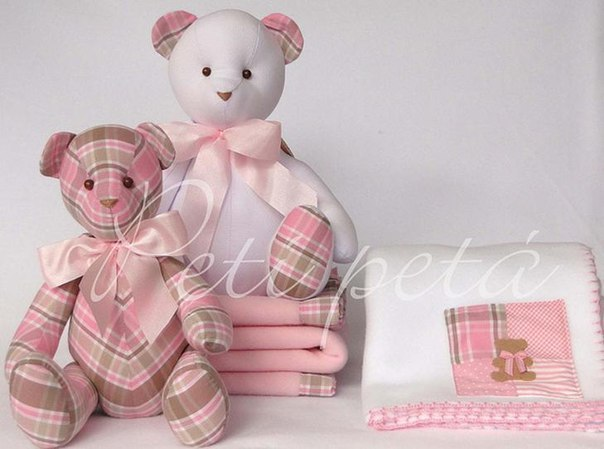 Выкройки текстильного медведя