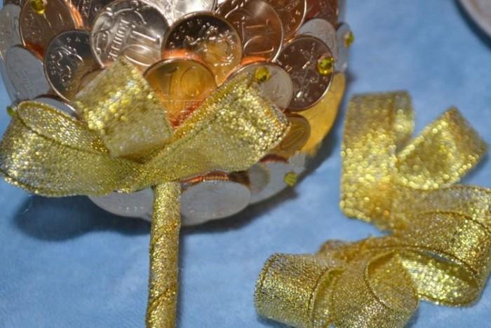 Изготовление топиариев из монет