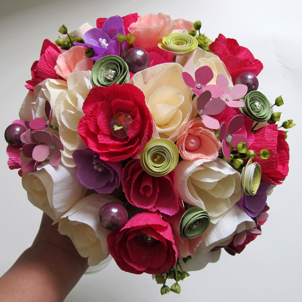 Букеты цветов фото своими руками из бумаги