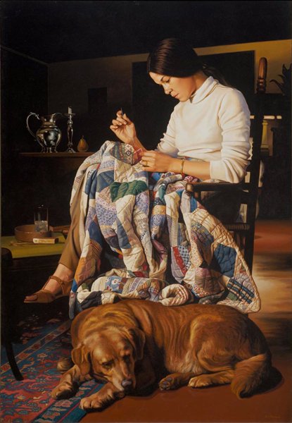 Девушка и одеяло