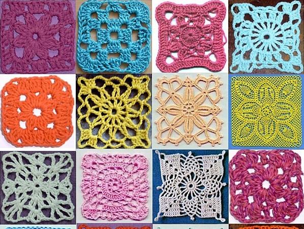 пэчворк крючком схемы для вязания блог домохозяйки