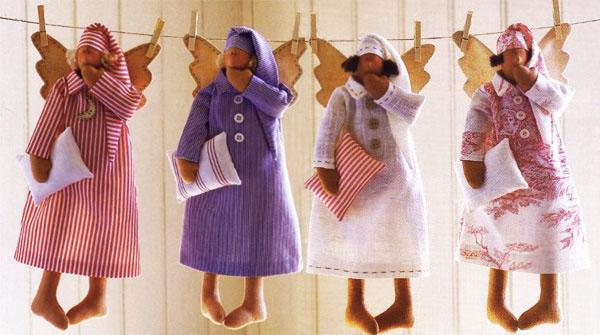Кукла Тильда - сонный Ангел. Мастер класс с пошаговыми фото