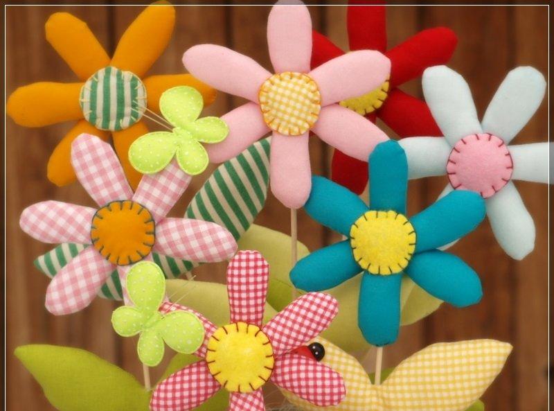 Как сделать мягкий цветок