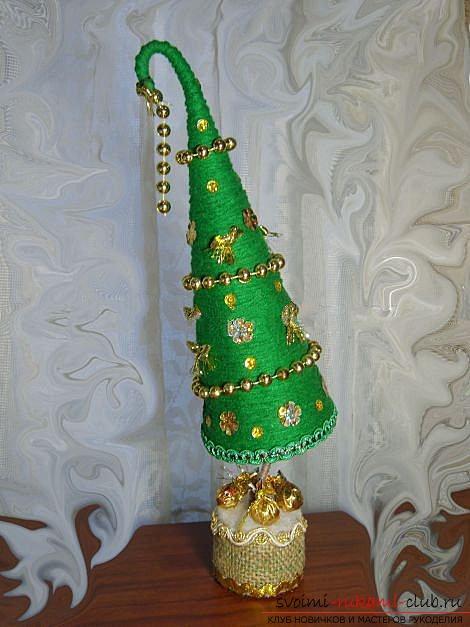 Новогодняя елка топиарий мастер класс